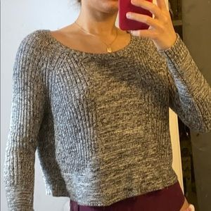 Dynamite Black and White Knit Sweater